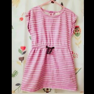 Gymboree nautical pink striped dress size 6.